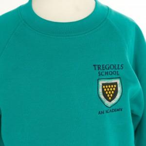 tregolls jade sweatshirt front view (966x1024)