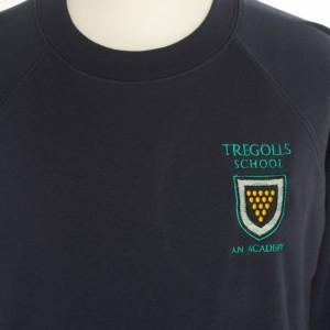 tregolls navy sweatshirt front view (857x1024)